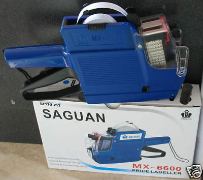 MX-6600 Saguan 10 Digits 2 Lines Price Tag Gun +1 Ink