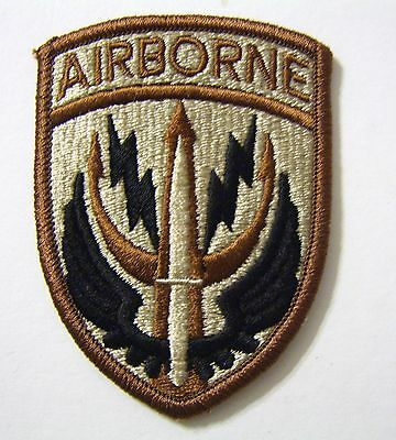 SPECIAL OPERATIONS COMMAND CENTRAL PATCH SSI U.S. ARMY - DESERT TAN COLOR:FA12-2