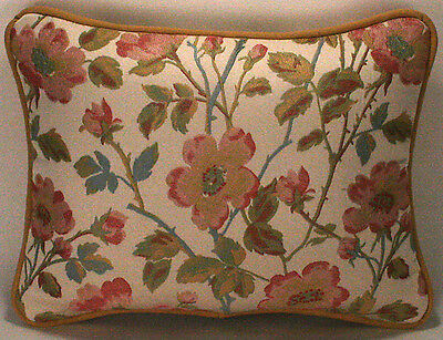 "1 12"" by 16"" Alba Rose Pink and Green Floral Designer Throw Pillow"