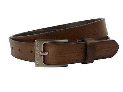 "NEW Quality MENS Brown REAL LEATHER BELT 1"" Wide by MILANO All Sizes up to 48"