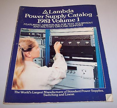 Lambda Power Supplies 1981 Catalog Volume 1