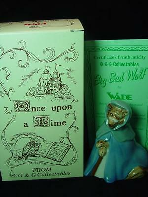 "WADE BIG BAD WOLF 4"" TALL 1998 Ltd ed 1000 RARE MINT BOXED CERTIFICATE"