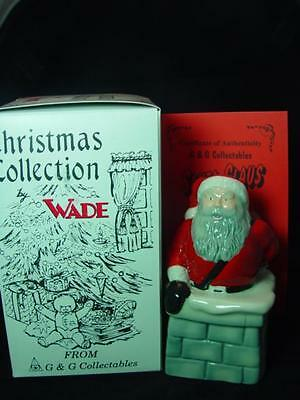 "WADE SANTA CLAUS FATHER CHRISTMAS IN CHIMNEY 5"" TALL 1997 Ltd ed 1000 RARE MINT"