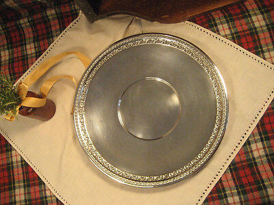 """Vintage Reed & Barton 10 ½"""" Silver Tray #1203 …LOVELY…"""