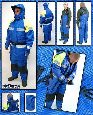 BISON 2pc FLOTATION FLOATATION SUIT ALL SIZES HERE + FREE 5 LED HEADLAMP
