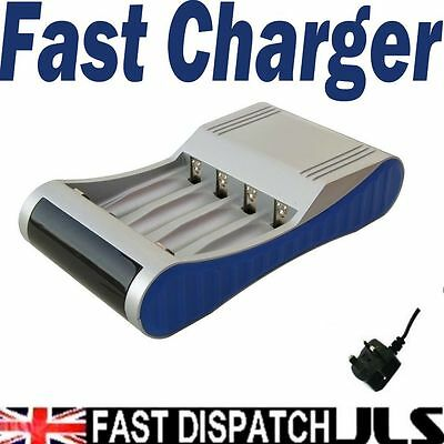 FAST BATTERY CHARGER  for AA + AAA Rapid NiMH NiCD