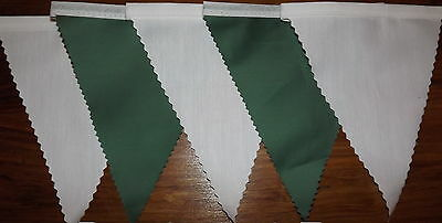 Green & White fabric bunting Wedding Birthday Party Decoration 2 mt or more