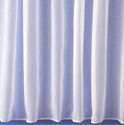 Plain White Net Window Curtain 1146, Lead Weighted Sold By The Metre In Width