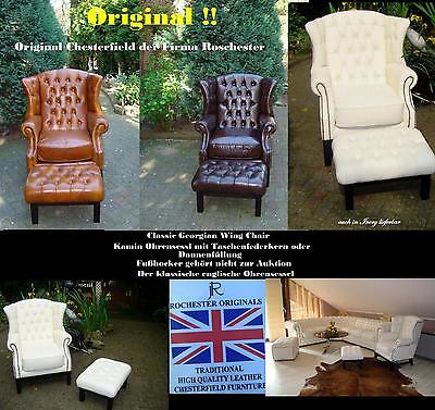 Chesterfield Classic Georgian Wing Chair Ohrensessel