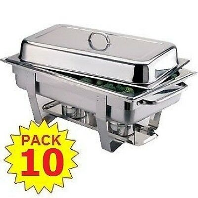 Pack 10 Olympia Stainless Steel Chafing Dish Sets ***Free Next Day Delivery***