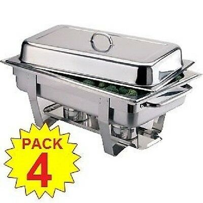 Best Ebay Price Pack Of 4 Chafing Dish Sets ***free Next Day Delivery***