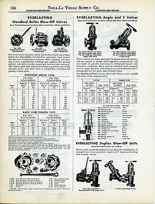 Everlasting Valves with Asbestos Packing, Gaskets Advertisement Catalog Page