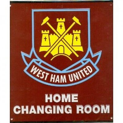 West Ham Football Club Crest Home Changing Room Sign