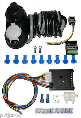 Universal 12n 12s Twin Towbar Electrics / Wiring + 7 Way Bypass Relay Kit