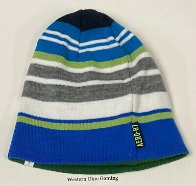 8805caa0a6680 AEROPOSTALE MEN S REVERSIBLE Beanie Stocking Cap NEW Winter Hat AERO ...