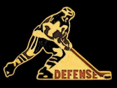 Hockey Defense Lapel Pin HIGH GLOSS GOLDTONE