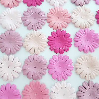 500 Pink Paper Flowers Scrapbook Cardmaking Basket Party Art Craft Supply P70-0