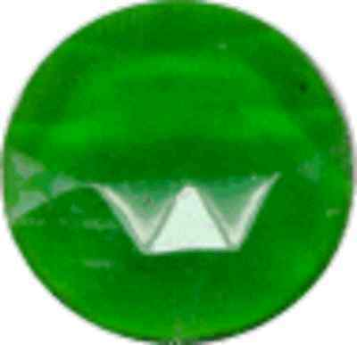 30mm green round faceted glass jewel flat back