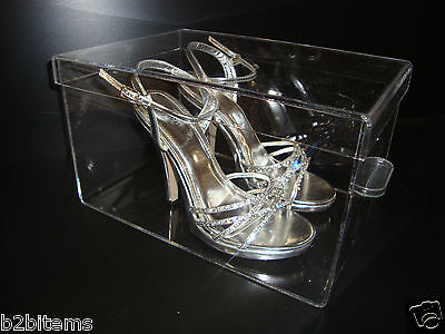 Acrylic Container Shoe Storage Lucite showcase Retail Store Cabinet Display case