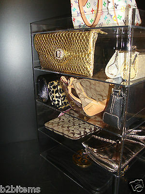 Acrylic Clutch Bag Storage Counter Lucite showcase Retail Store Cabinet Display
