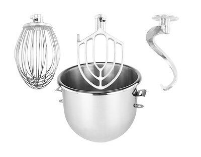 20 qt Attachments Package for Hobart A200 - Bowl, Hook, Whip, Flat Beater