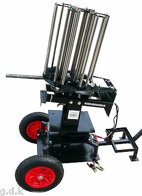 Gdk Black Pheasant,260 Target Clay Pigeon Trap With Abt Wobbler & Trolley, 12V