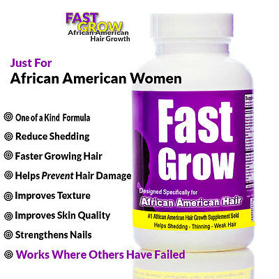 Fast Grow  Vitamins for Hair Growth for African American Women  60 Capsules