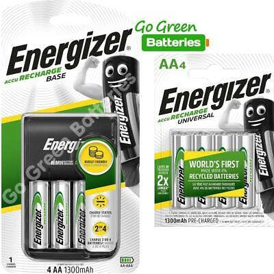 Energizer Base AA /AAA Charger + 8 AA 1300 mAh Rechargeable Batteries 2018 model