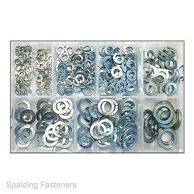 """Assorted 3/16,To 5/8"""" Imperial Zinc Spring Washers For UNC UNF BSF AF Bolts"""