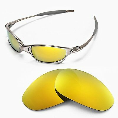 New Walleva Polarized 24K Gold Lenses For Oakley Juliet