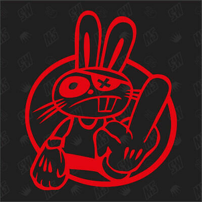 Hater Bunny - Tuning Sticker, Fun Aufkleber, Decal, Stickerbomb, Japan Style