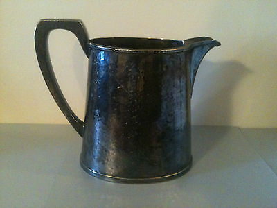 Antique Nickel Silver Water Pitcher: W.M. Mounts and Derby S.P. Co