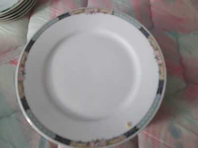 "KPM Porcelain Lunch Plates-7 1/2""-FREE SHIPPING! Minor Wear to Gold Trim"