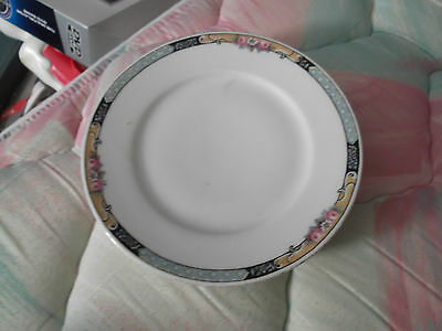 "KPM Porcelain Bread Plates-6""-FREE SHIPPING! Minor Wear to Gold Trim"