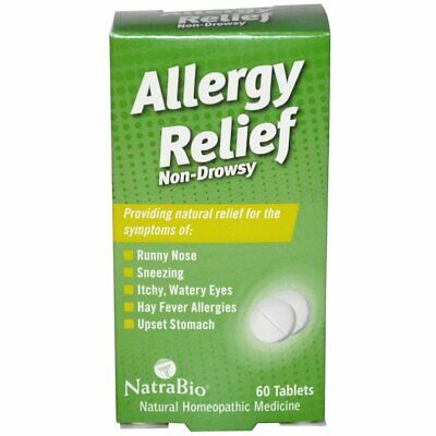 Homeopathic Allergy Relief 'Non-Drowsy', x60tabs;- HAYFEVER RELIEF !