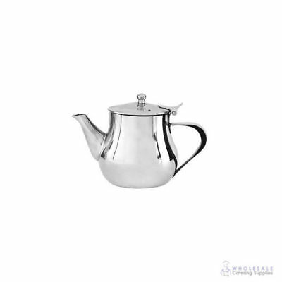 Teapot 400mL Stainless Steel 'Argentina' Flip Lid Tea Pot Coffee Pourer Cafe