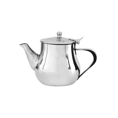 Teapot 1000mL Stainless Steel 'Argentina' Flip Lid Tea Pot Coffee Pourer Cafe