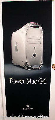 Vintage Apple Computer Power Mac G4 Quicksilver THINK DIFFERENT Banner/Sign 2001