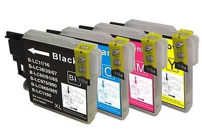 12 Cartouches comp BROTHER LC 1100 980 DCP 145C 585 MFC290