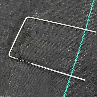 50 x METAL/STEEL GROUND STAPLE PEGS/PINS for Weed Control Fabric Membrane Cover