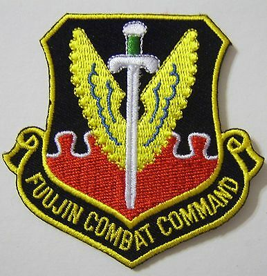 USAF PATCH FUUJIN COMBAT COMMAND 4th FIGHTER SQUADRON FULL COLOR:KY12