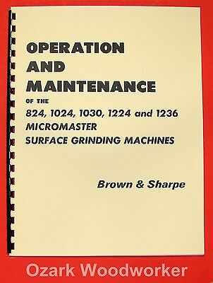 BROWN & SHARPE Micromaster Surface Grinders Operator Manual 0095