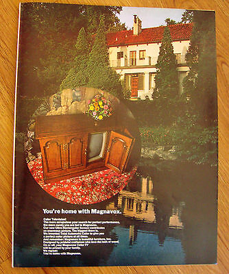 1970 Magnavox TV Television Ad  You're home with Magnavox