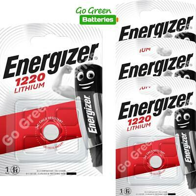 4 x Energizer 1220 CR1220 3V Lithium Coin Cell Battery DL1220 KCR1220, BR1220