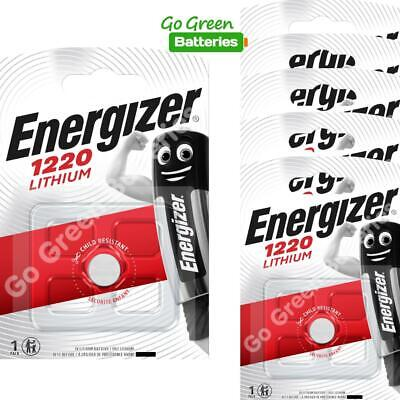 6 x Energizer 1220 CR1220 3V Lithium Coin Cell Battery DL1220 KCR1220, BR1220