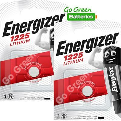 2 x Energizer 1225 CR1225 3V Lithium Coin Cell Battery DL1225 KCR1225, BR1225