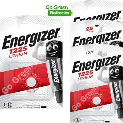 4 x Energizer 1225 CR1225 3V Lithium Coin Cell Battery DL1225 KCR1225, BR1225