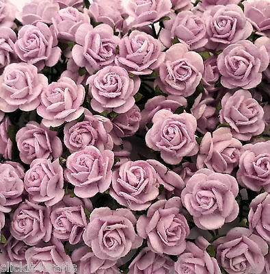 50 Mini Mulberry Paper Flowers Wedding Rose Gift Basket Craft Supply ZR2-187