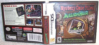 MYSTERY CASE FILES MILLIONHEIR Case Only used Nintendo DS!