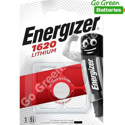 10 x Energizer 1620 CR1620 3V Lithium Coin Cell Battery DL1620 KCR1620, BR1620